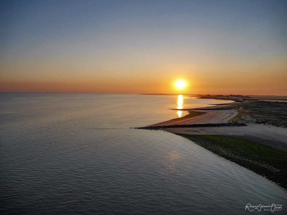 Coucher de soleil sur la baie de l'aiguillon