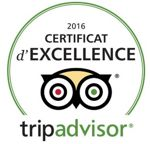 Cerfificat d'excellence Tripadvisor