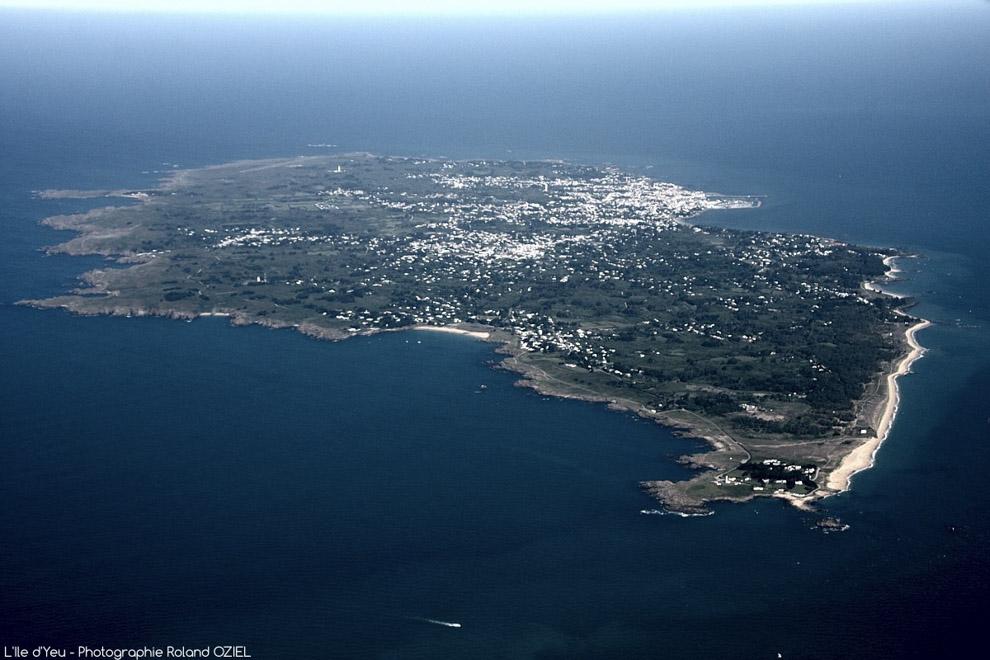 Photo aérienne de l'Ile d'Yeu.